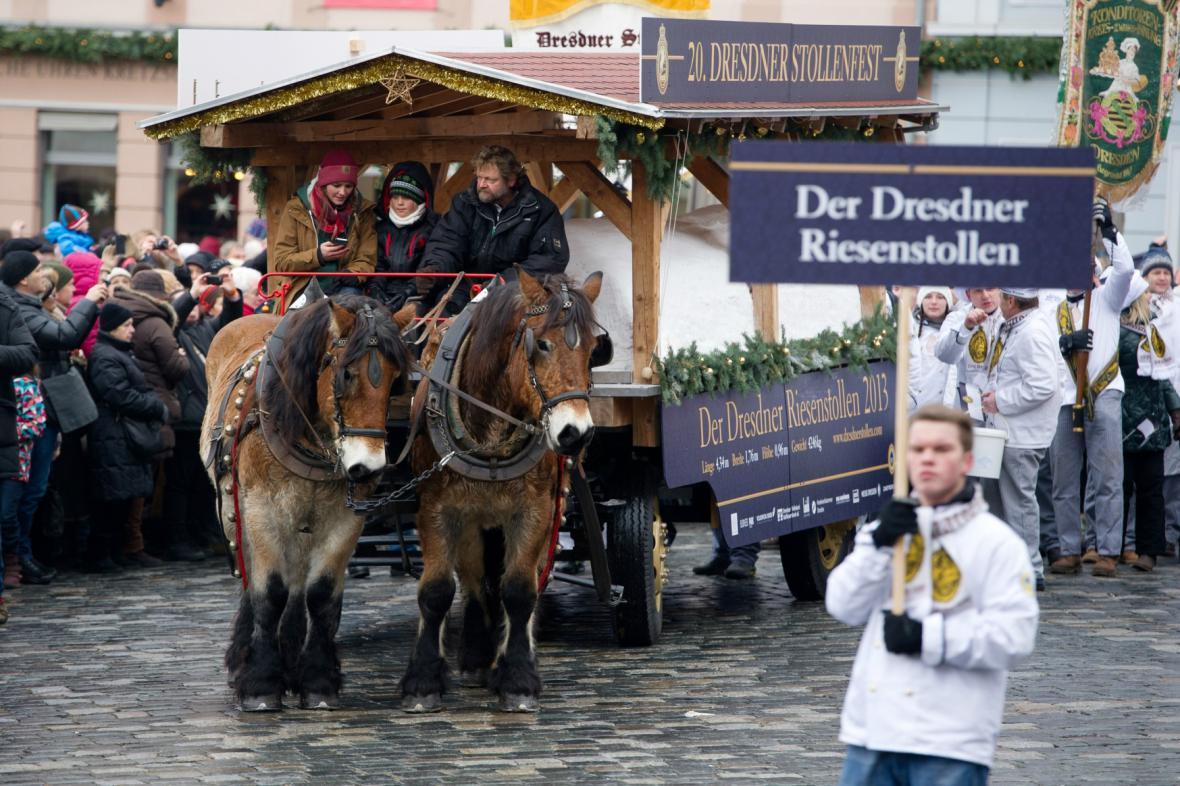 Striezelmarkt v Drážďanech
