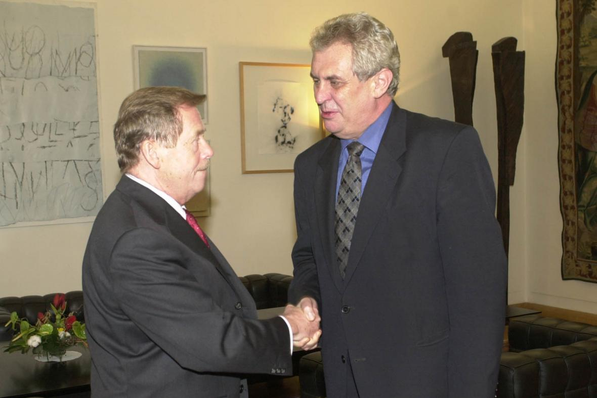 Václav Havel a Miloš Zeman