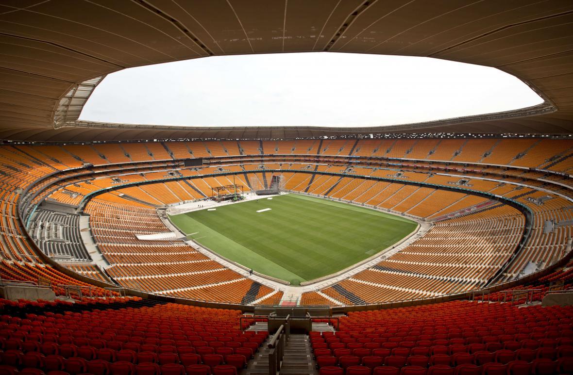 Stadion FNB, kde se bude konat vzpomínková bohoslužba za Nelsona Mandelu
