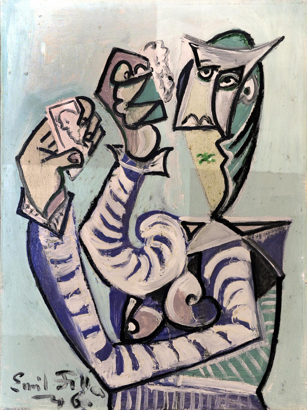 Žena s kartami (1946)