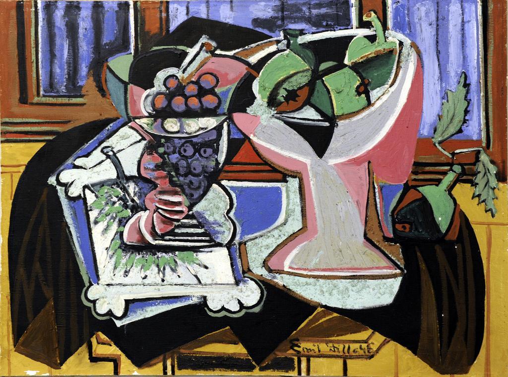 Zátiší s mísami ovoce (1946)