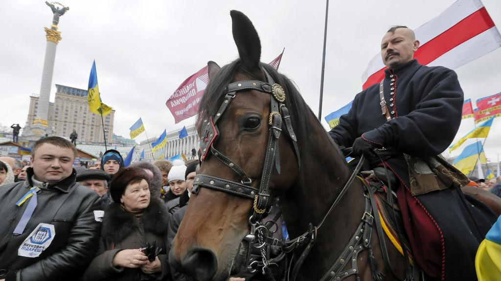 V Kyjevě se koná masivní demonstrace
