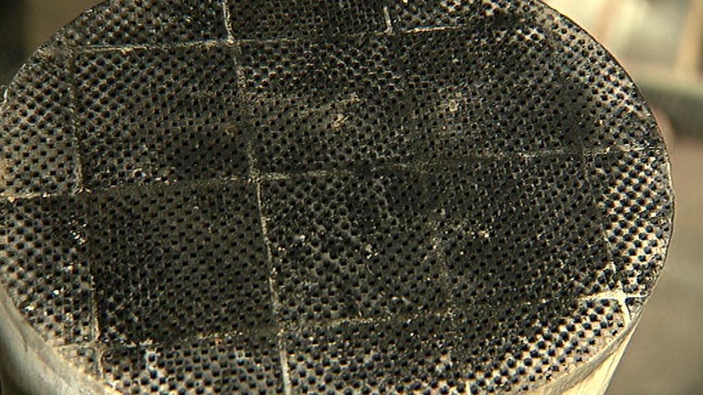 Špinavý filtr pevných částic