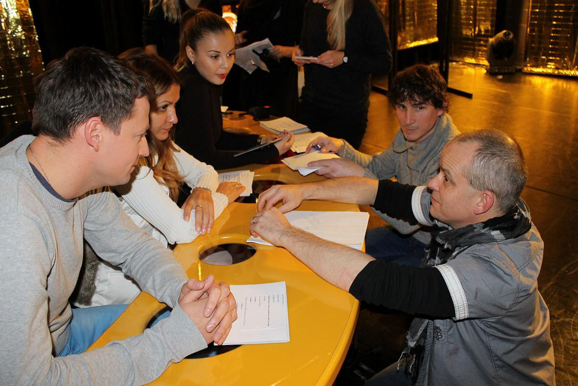 Zlatý oříšek 2012 - porada s režisérem