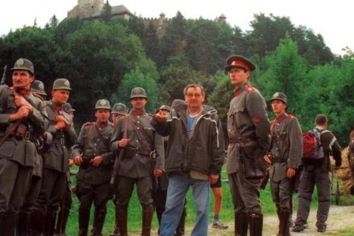 Režisér Antonín Moskalyk na natáčení