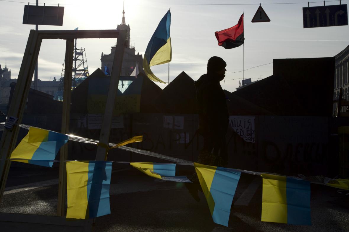 Demonstrace v centru Kyjeva
