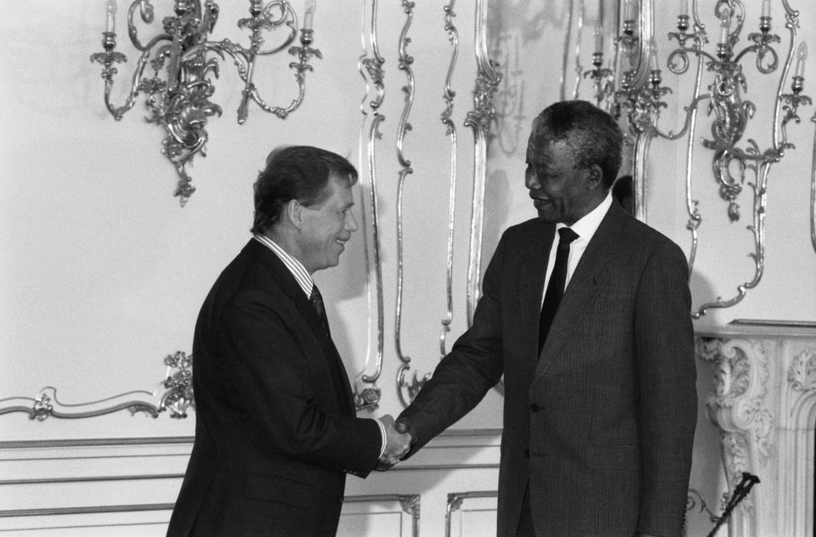 Václav Havel a Nelson Mandela