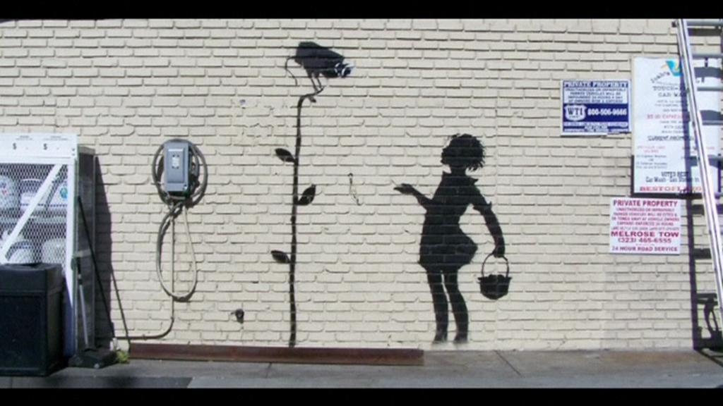 Květinová dívka sprejera Banksyho