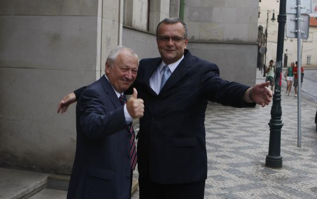Eduard Janota a Miroslav Kalousek