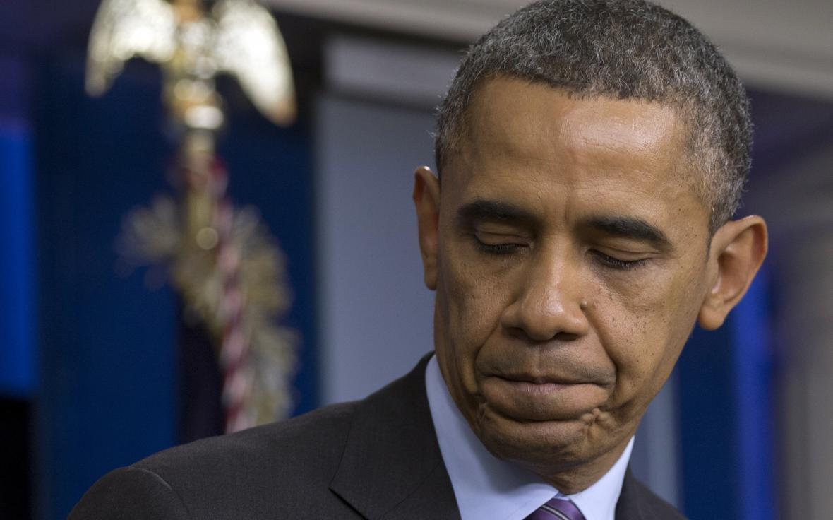 Americký prezident Barack Obama po projevu k úmrtí Nelsona Mandely