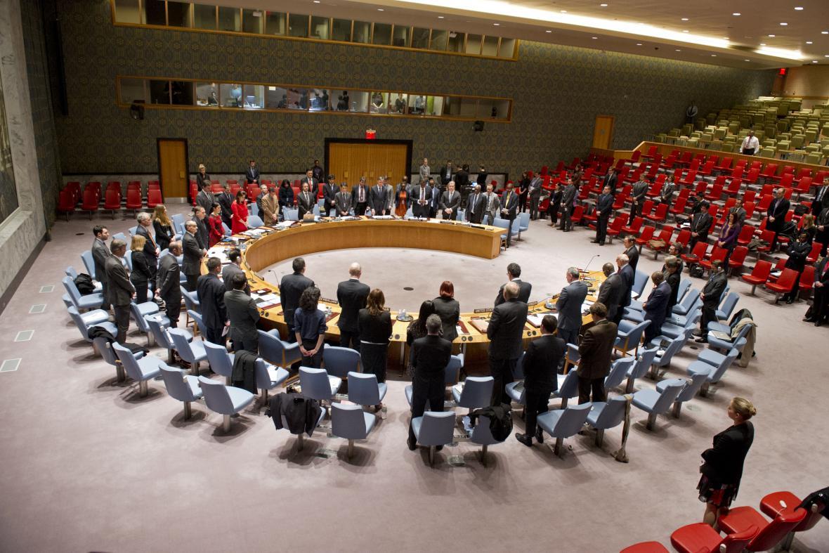 Rada bezpečnosti OSN drží minutu ticha za zesnulého Nelsona Mandelu