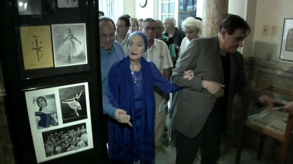Alicia Alonsová v Muzeu tance v Havaně