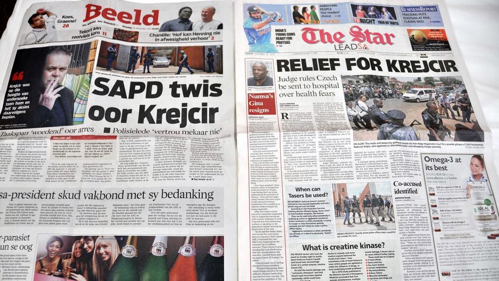 Jihoafrický tisk o Krejčířovi