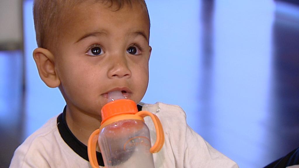Zraněné syrské dítě