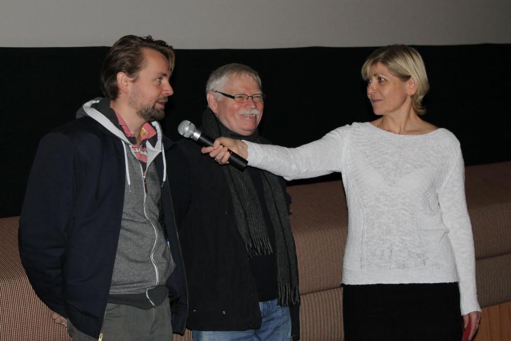 Petr Lněnička a Eugen Sokolovský ml. na promítání Sněžného draka v kině Art