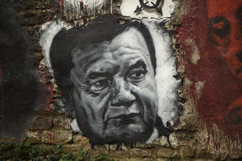 Portrét Viktora Janukovyče
