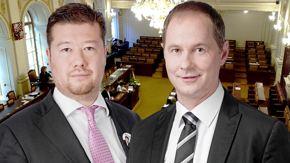 Tomio Okamura a Petr Gazdík