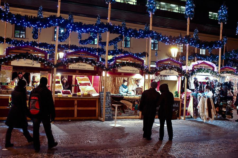 Vánoční výzdoba v Praze