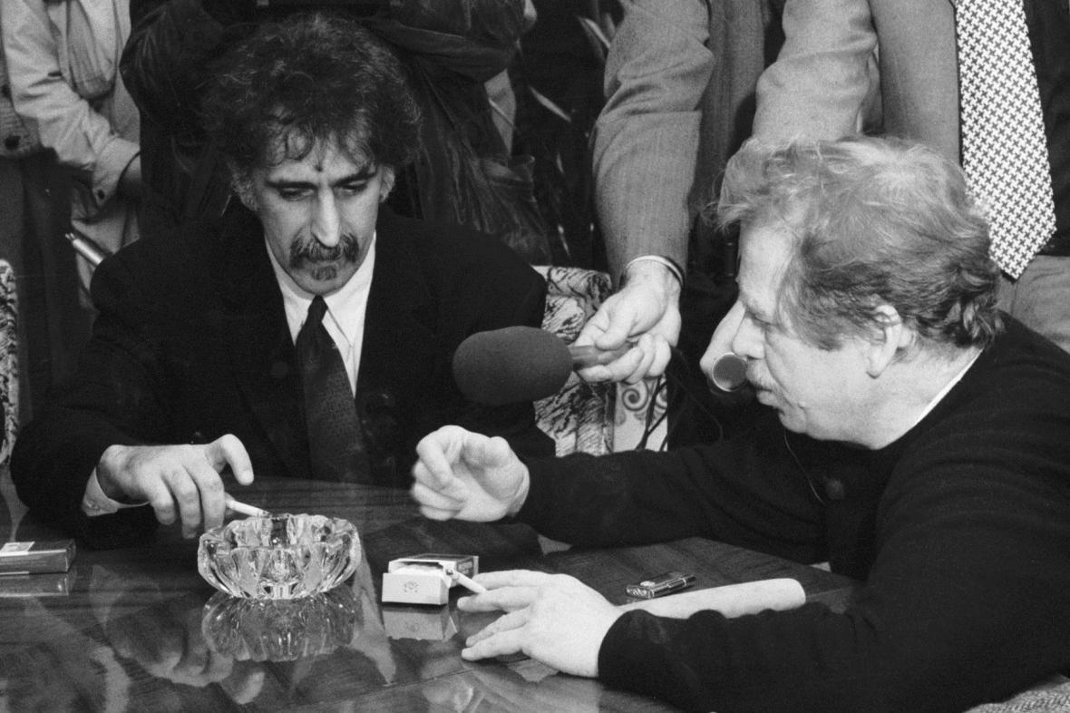 Frank Zappa a Václav Havel