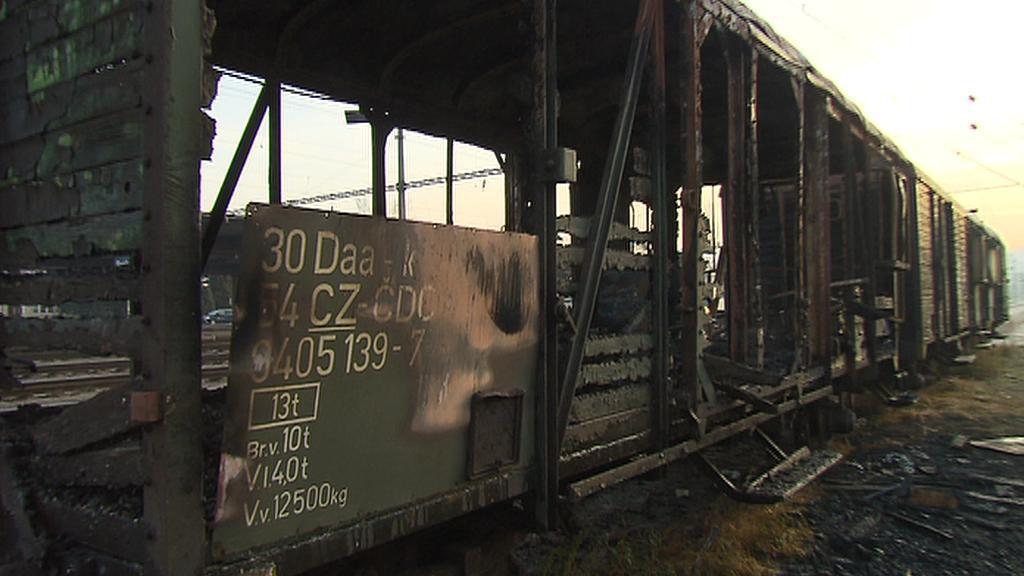 Vyhořelý vagon