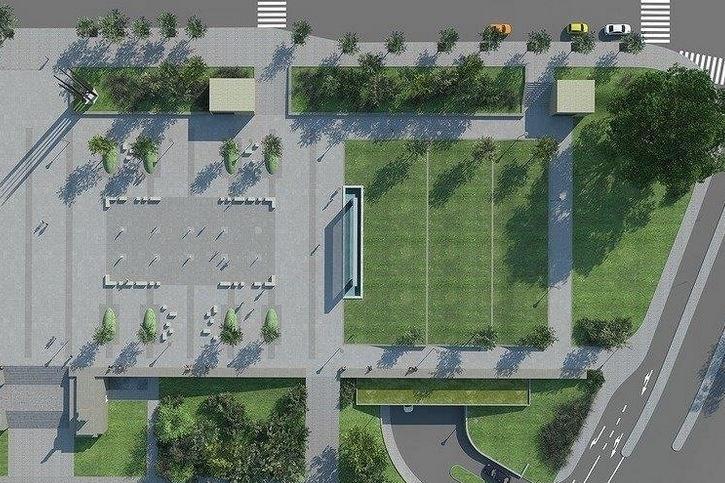 Vizualizace podzemního parkoviště