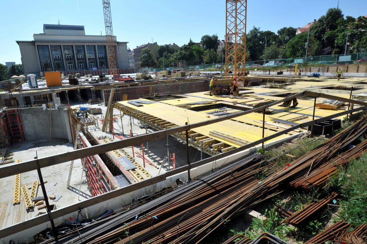 Výstavba podzemního parkoviště