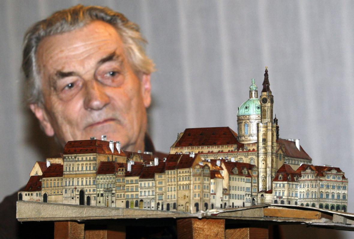 Jiří Bouda a model Prahy