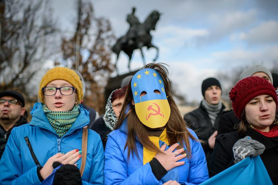Studenti v Polsku podporují demonstrace v Kyjevě
