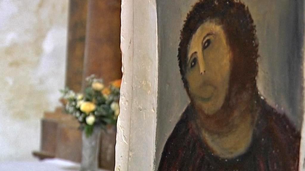 Obraz Ecce Homo po neumělém zásahu