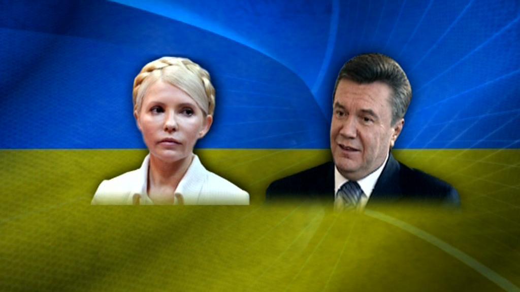 Julija Tymošenková a Viktor Janukovyč