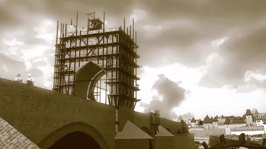 Výstavba Staroměstské mostecké věže