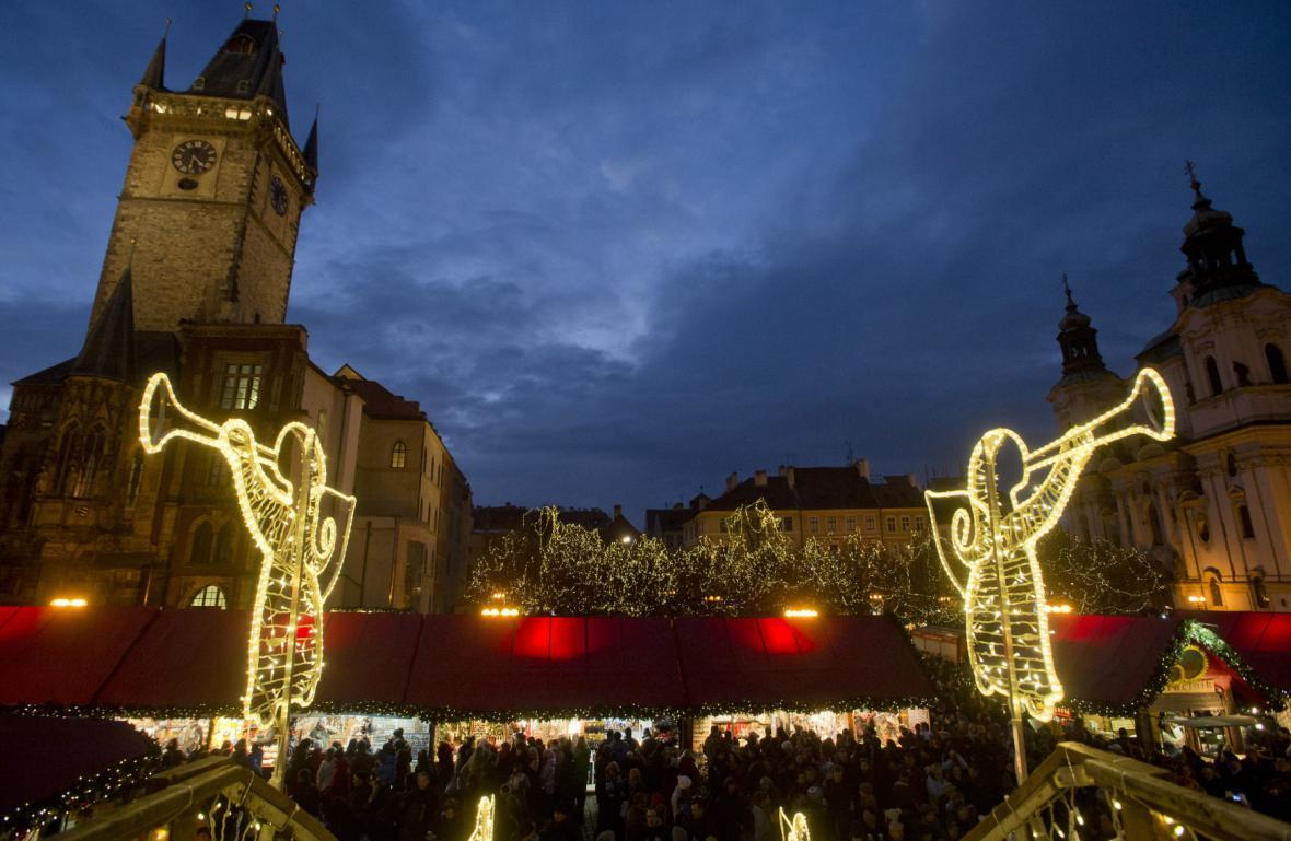 Zahájení vánočních trhů v Praze - rok 2013