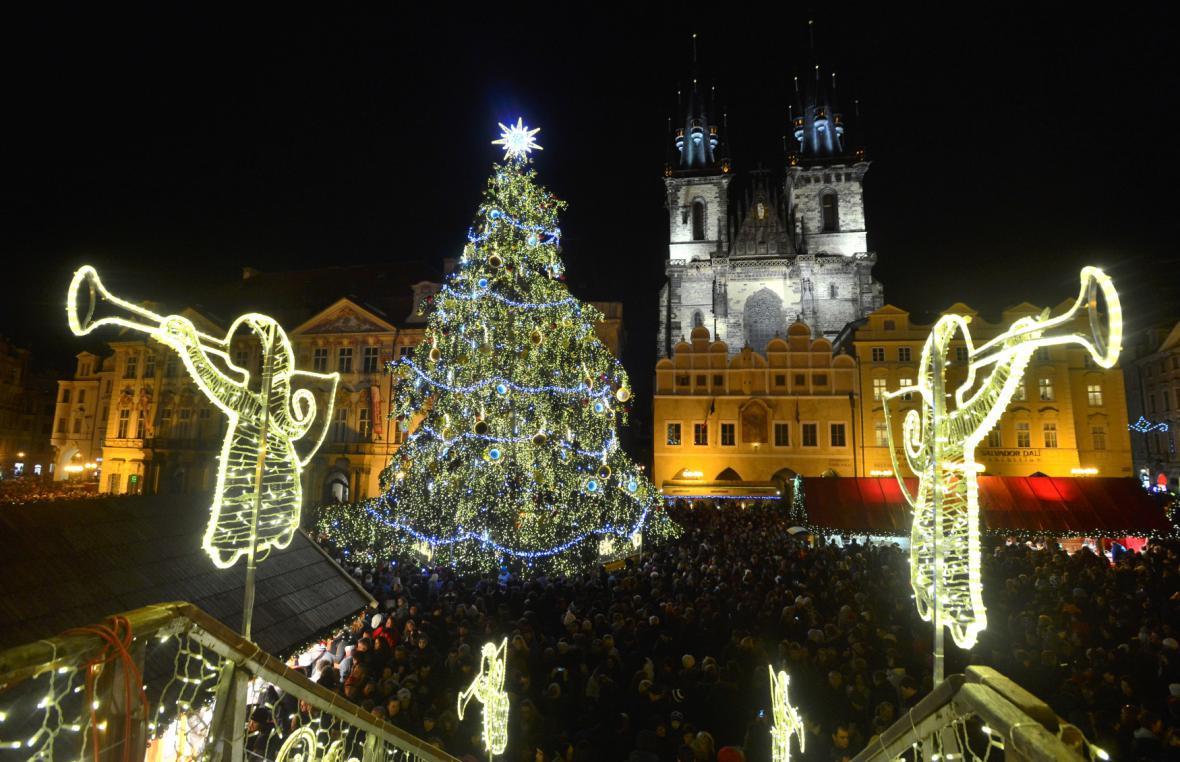 Zahájení vánočních trhů v Praze