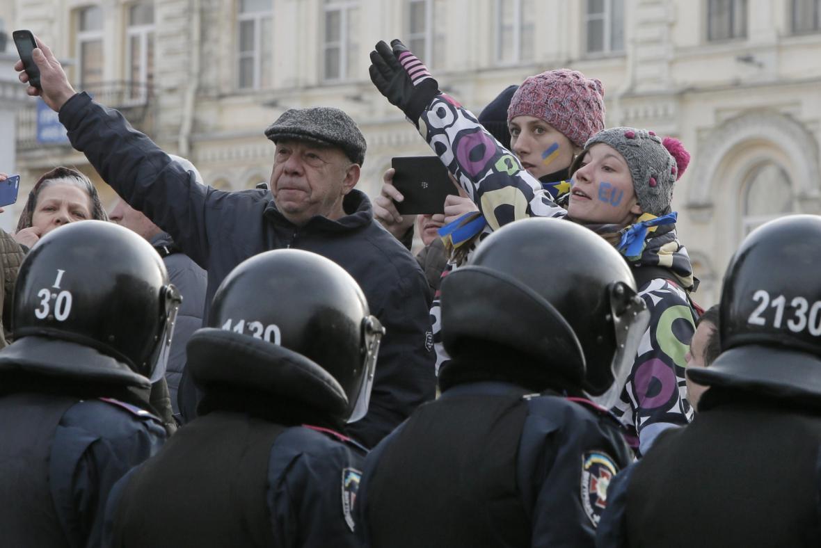 Protesty v Kyjevě