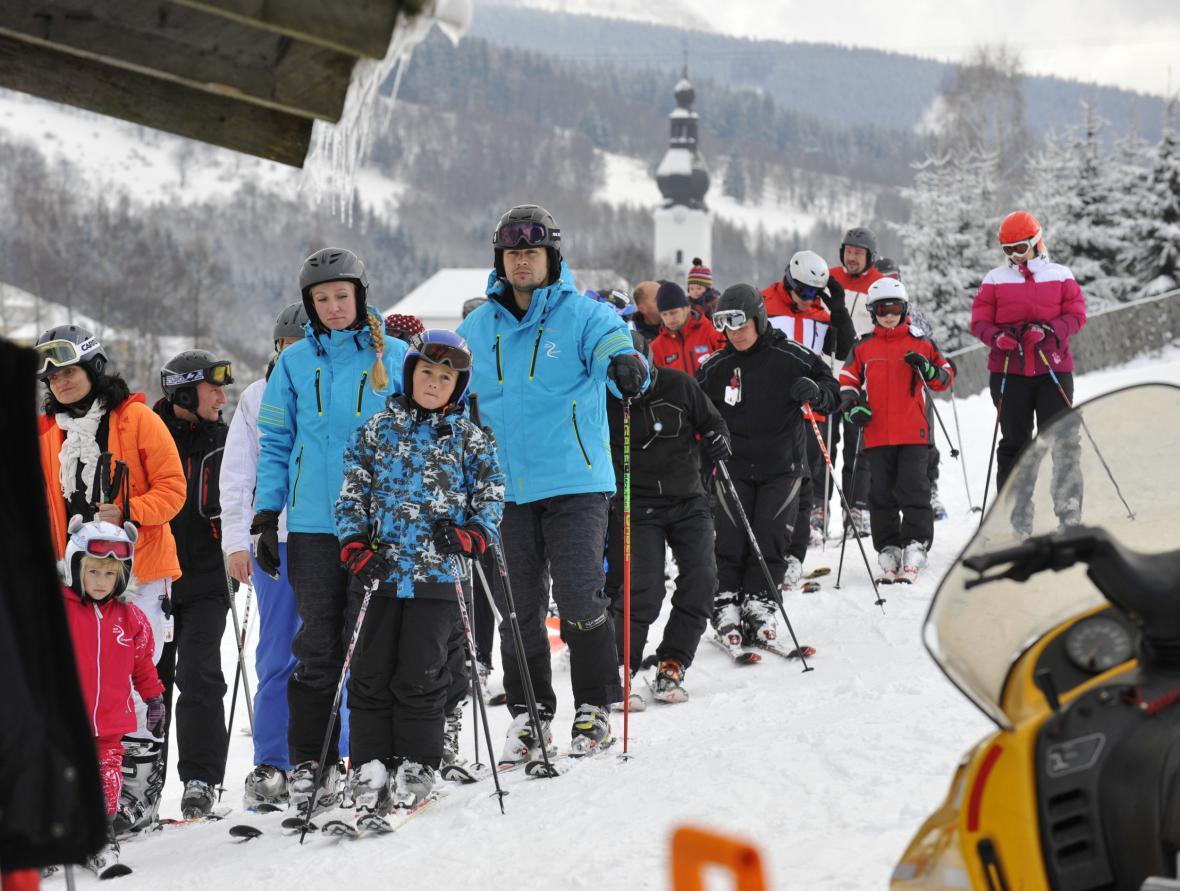 Lyžařské středisko v Branné na Šumpersku