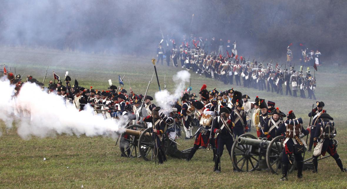 Rekonstrukce slavné bitvy u Slavkova