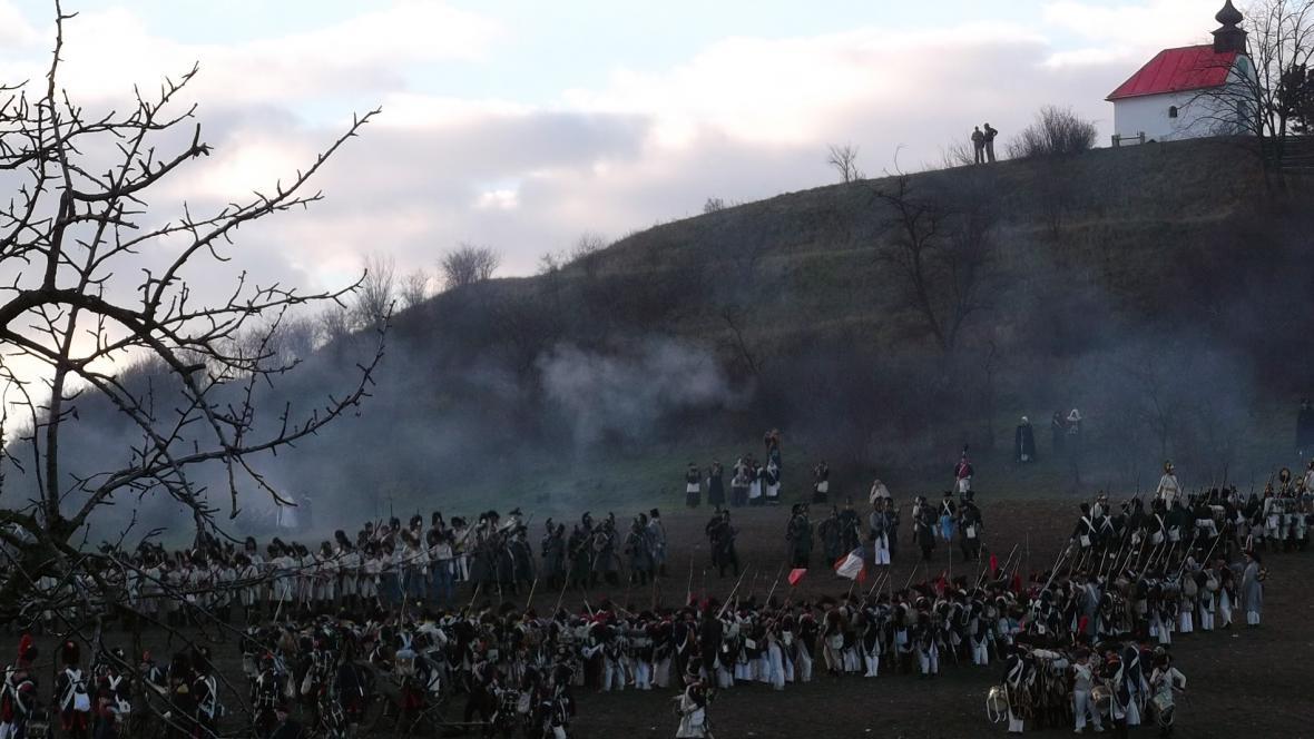 Připomínka bitvy tří císařů