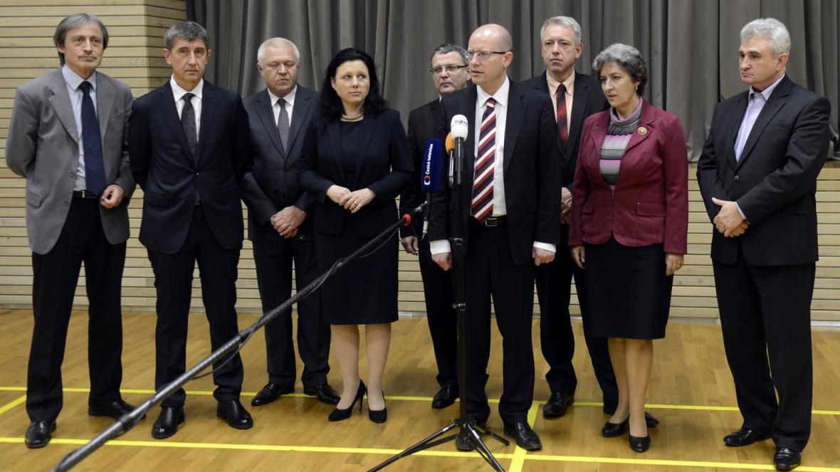 Vyjednávací týmy ČSSD a ANO
