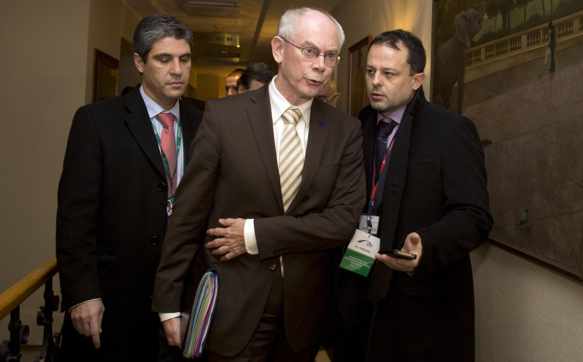 Herman Van Rompuy na summitu v Litvě