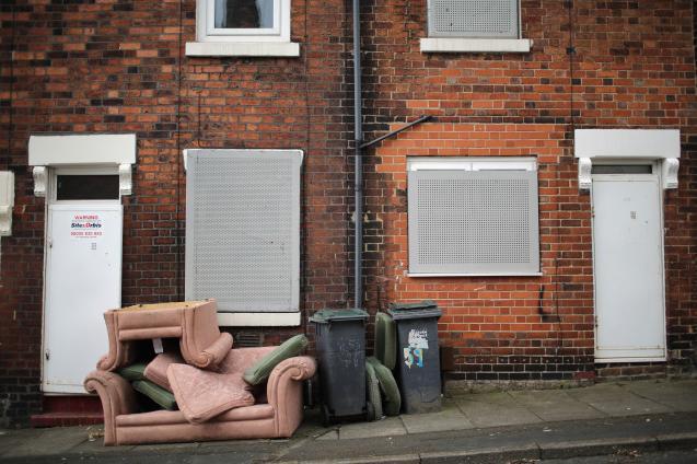 Ulice ve městě Stoke-on-Trent