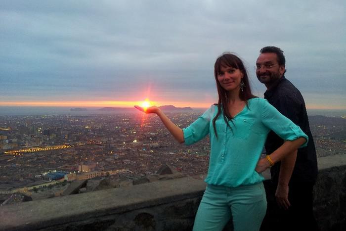 Otakáro M. Schmidt a Jana K. Studničková na natáčení v Peru
