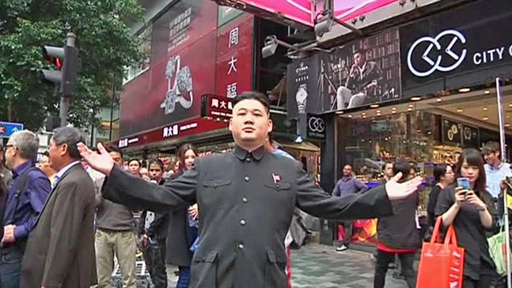 Dvojník Kim Čong-una v Hongkongu