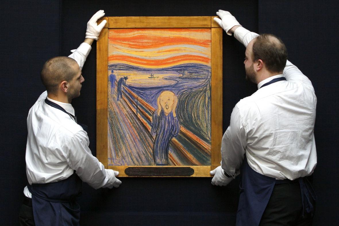 Jedna z verzí Výkřiku Edvarda Muncha