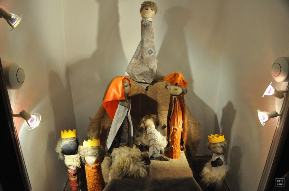 Z výstavy betlémů v Lounech