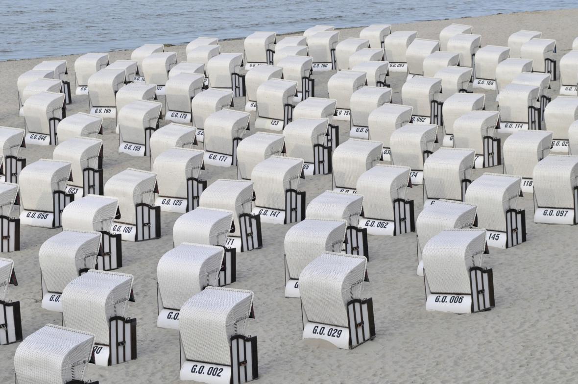 Plážové koše na Rujáně