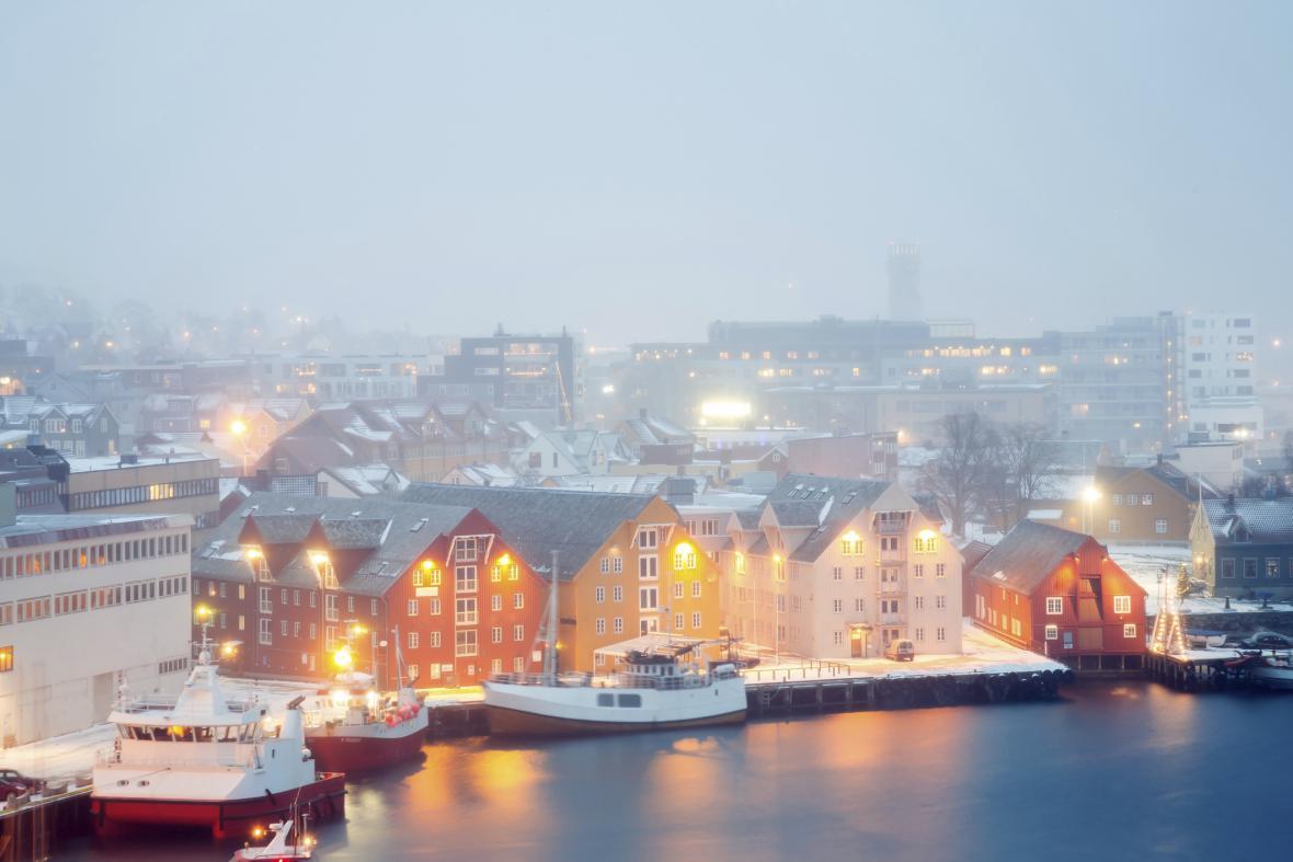 Tromsö, Norsko – ideální místo pro pozorování polární záře