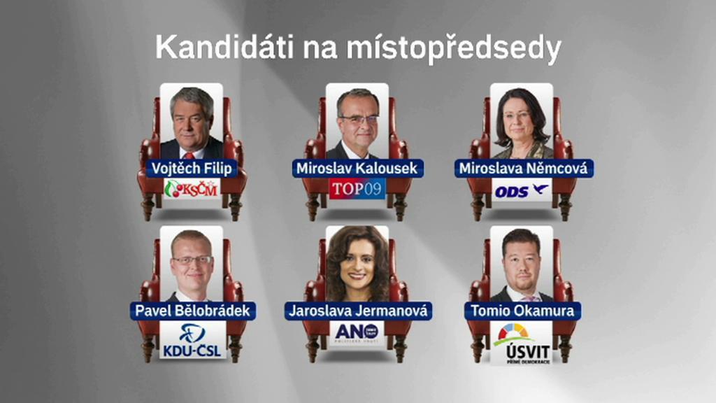 Kandidáti na post místopředsedy PS