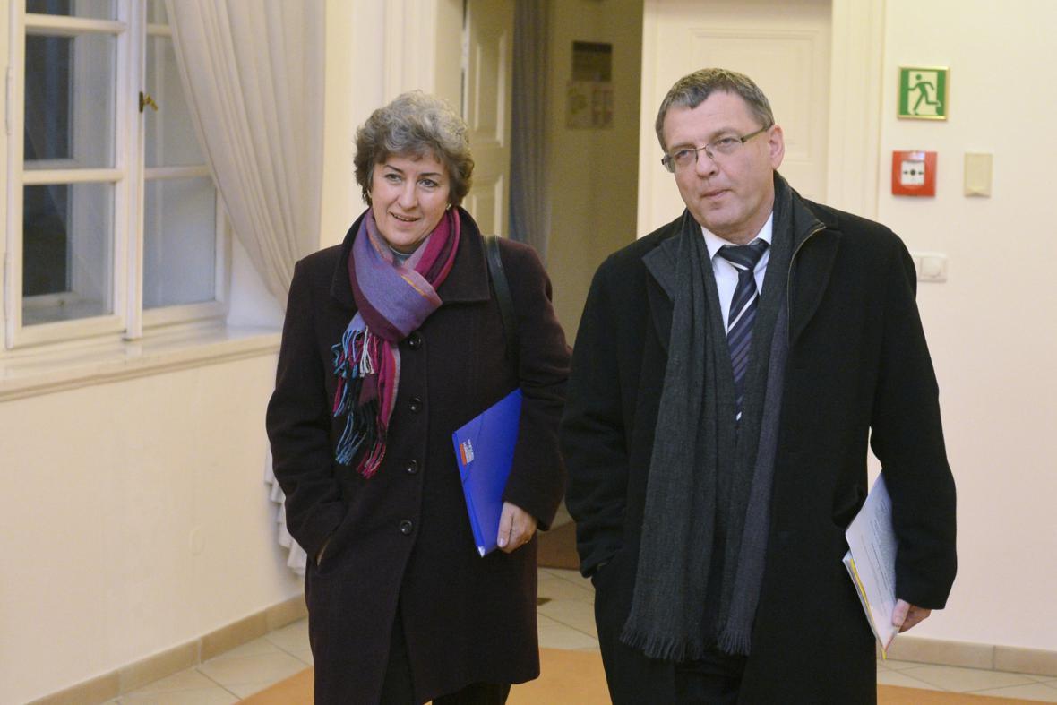 Alena Gajdůšková a Lubomír Zaorálek (ČSSD)