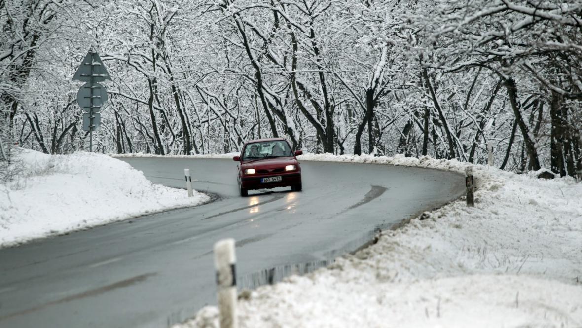 Zimní počasí na silnicích