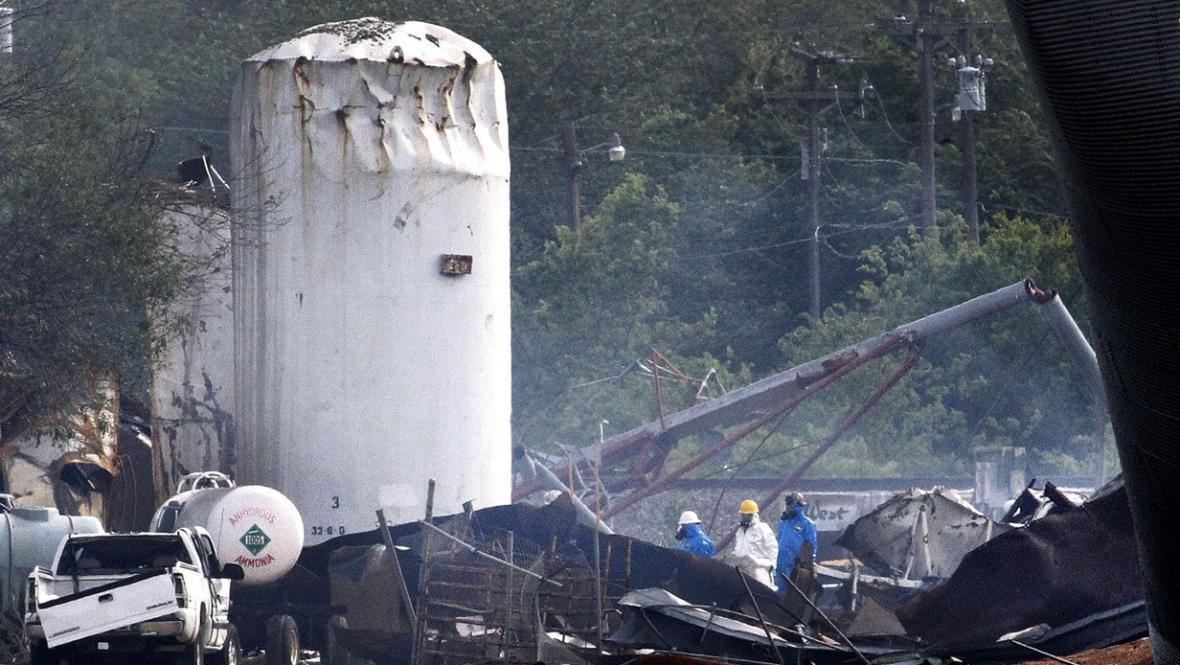 Následky výbuchu ve Westu